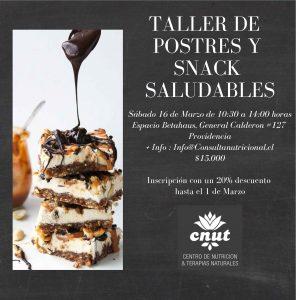 Taller de «Postres y Snack Saludables»