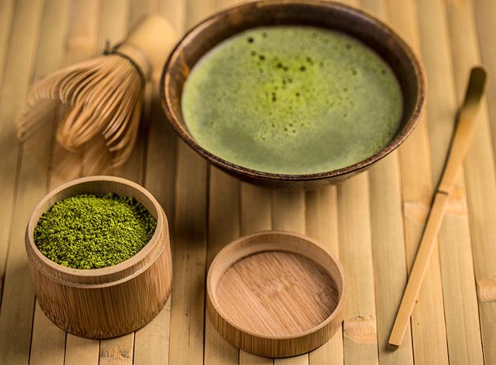 Té Matcha, acelera el metabolismo y previene el envejecimiento.